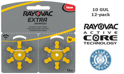 Rayovac extra advanced 10 GUL 12-pack