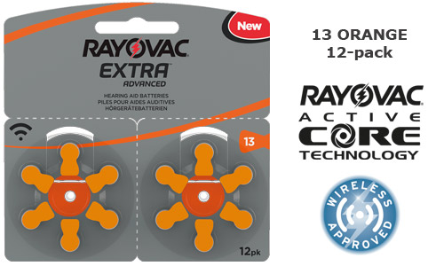 Rayovac extra advanced 13 ORANGE 12-pack