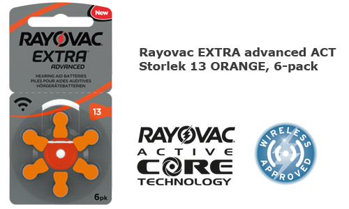 Rayovac extra advanced 13 ORANGE