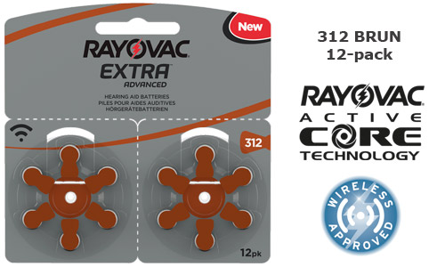 Rayovac extra advanced 312 BRUN, 12-pack