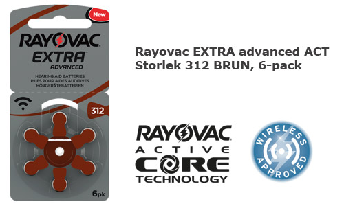 Rayovac extra advanced 312 BRUN