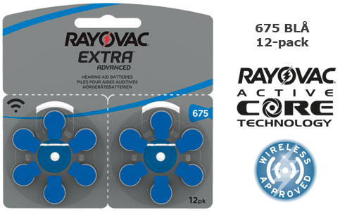 Rayovac extra advanced 675 BLÅ 12-pack